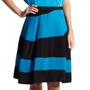 Derek Lam for DesigNation Pieced Colorblock A-Line Skirt