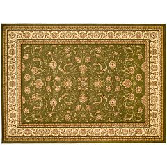 Safavieh Lyndhurst Framed Floral Scroll Rug