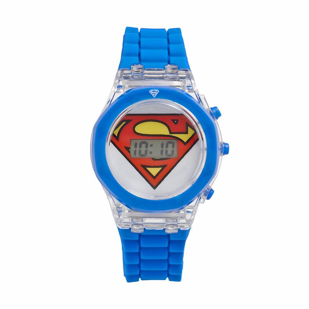 Superman Light Up Digital Watch - Kids