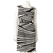 AB Studio Striped Sheath Dress