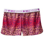 SO Heart Smiley Fold-Over Yoga Shorts - Girls 7-16