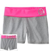 SO Peace Neon Fold-Over Yoga Shorts - Girls 7-16