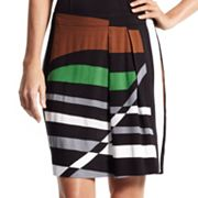 Derek Lam for DesigNation Striped Pleated Skirt