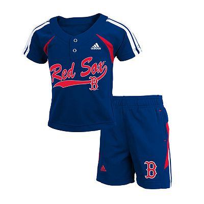 adidas Boston Red Sox Jersey and Shorts Set - Toddler