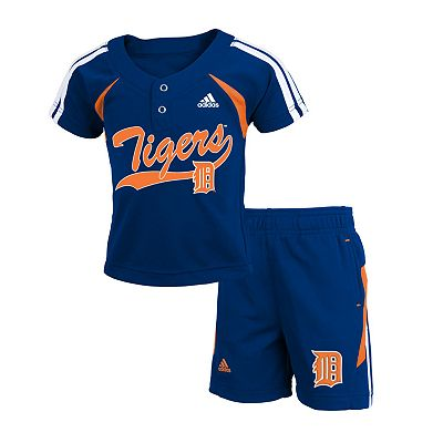 adidas Detroit Tigers Jersey and Shorts Set - Toddler