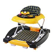 Dream On Me Dynamic 2-in-1 Rocker and Walker - Yellow/Black