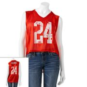 Derek Heart Mesh Sleeveless Football Jersey - Juniors