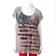Rock and Republic Embellished Flag Tee