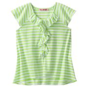 Energie Striped Ruffle Top - Girls 7-16