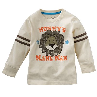 Jumping Beans Animal Sleeve-Stripe Tee - Baby