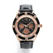 Studio Time Rose Gold Tone Simulated Crystal Watch - STD3406W - Women