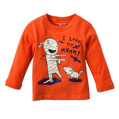 Jumping Beans Glow-in-the-Dark Halloween Mummy Tee - Baby