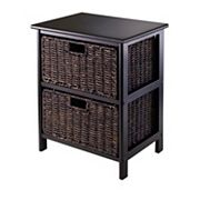Winsome 3-Tier Terrace Storage Shelf & 2-Basket Unit