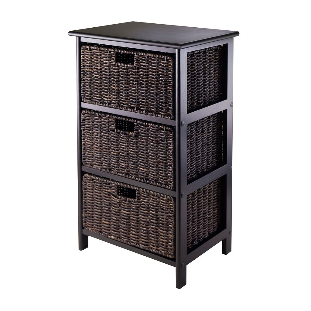 Winsome Omaha Storage Rack & 3-Basket Unit