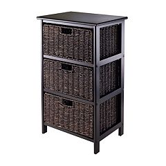Winsome Omaha Storage Rack & 3-Basket Unit