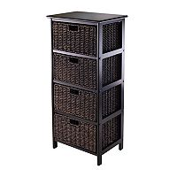 Winsome Omaha Storage Rack & 4-Basket Unit