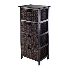 Winsome Omaha Storage Rack & 4-Basket Unit