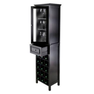 Winsome Glass Door 15-Bottle Wine Cabinet