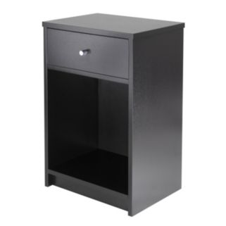 Winsome Squamish Black Accent Table