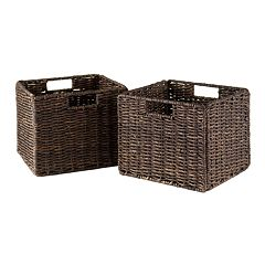 Winsome 2 pc Granville Storage Basket Set - Small