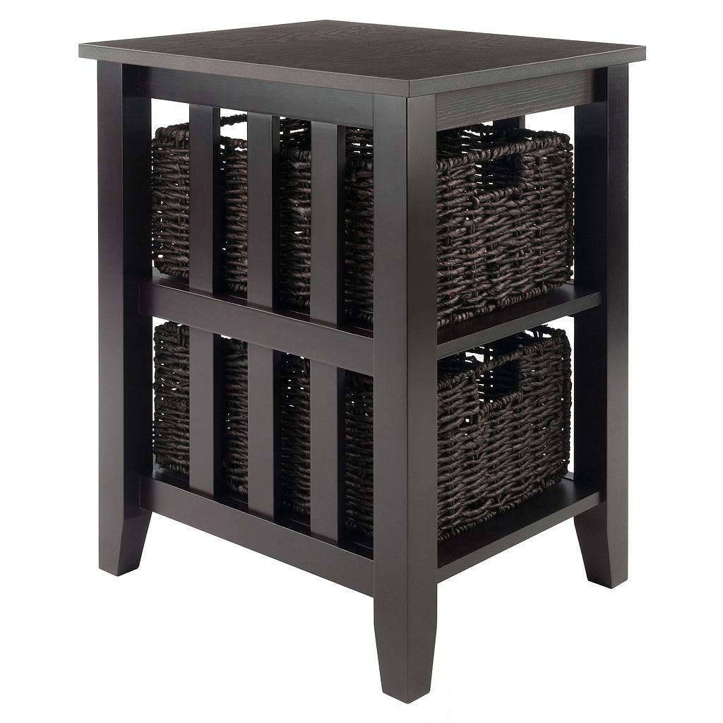 Winsome Morris Side Table & Two Basket Unit