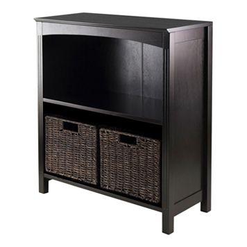 Winsome Terrace 2-Shelf Storage Bookcase 3-piece Set