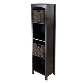 Winsome 5-Tier Terrace Storage Shelf & 2-Basket Unit