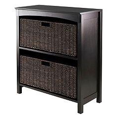 Winsome Terrace 2-Basket Storage Shelf