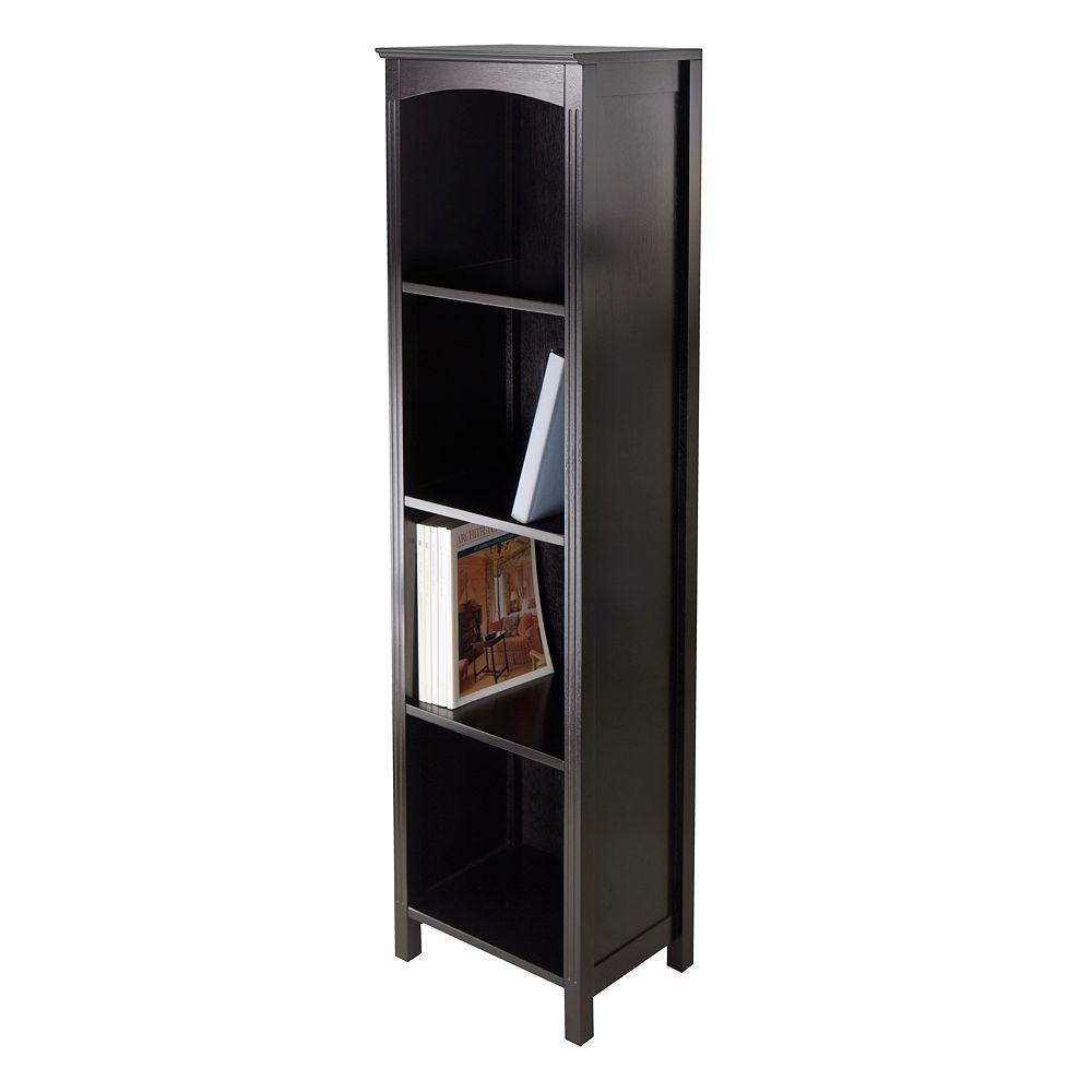 Winsome Terrace Narrow 5-Tier Storage Bookshelf