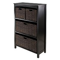 Winsome Terrace 4-Basket Storage Shelf
