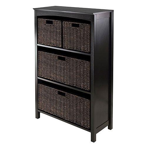 Winsome Terrace 4-Basket Storage Shelf