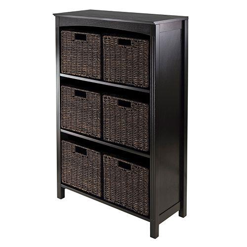 Winsome Terrace 6-Basket Storage Shelf