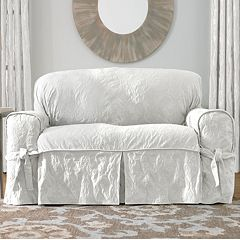 Sure Fit Matelasse Damask Loveseat Slipcover