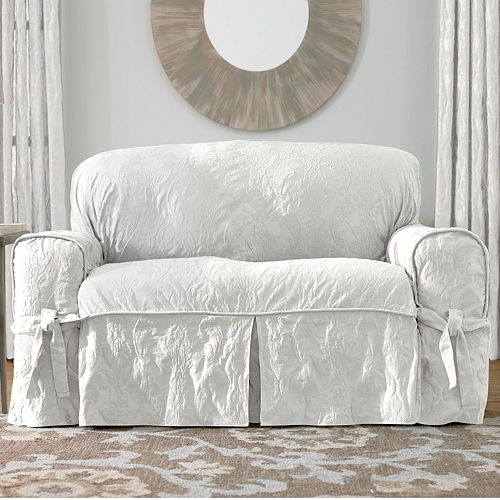 Cool Sure Fit Matelasse Damask Loveseat Slipcover Ncnpc Chair Design For Home Ncnpcorg