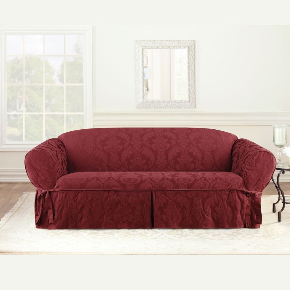 Fit Matelasse Damask Sofa Slipcover