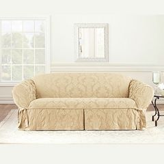 Sure Fit Matelasse Damask Sofa Slipcover