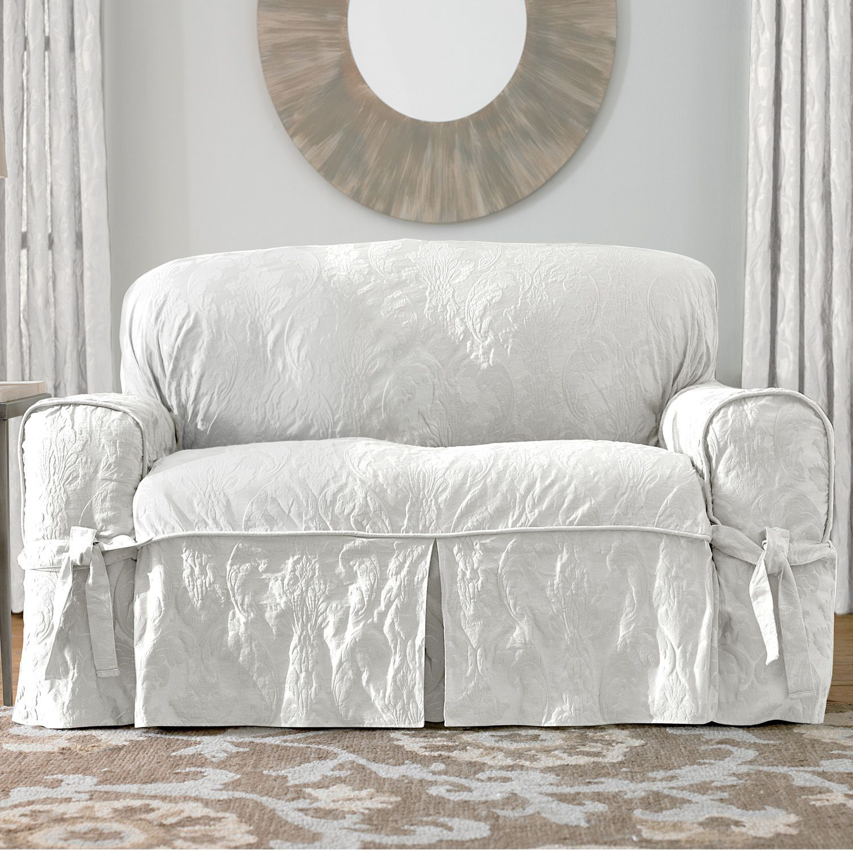 Sure Fit Matelasse Damask Sofa Slipcover
