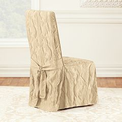 Sure Fit Matelasse Damask Dining Room Chair Slipcover