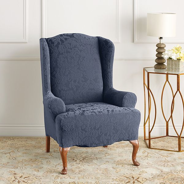 Sure Fit Stretch Jacquard Damask Wing, Sure Fit Slipcovers Chair