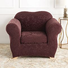 Sure Fit Stretch Jacquard Damask Chair Slipcover