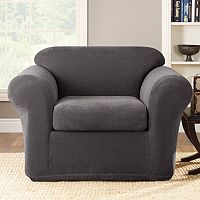 Sure Fit Stretch Metro 2 pc Chair Slipcover