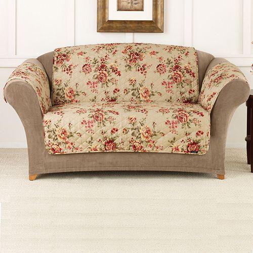 Remarkable Sure Fit Lexington Floral Loveseat Slipcover Short Links Chair Design For Home Short Linksinfo