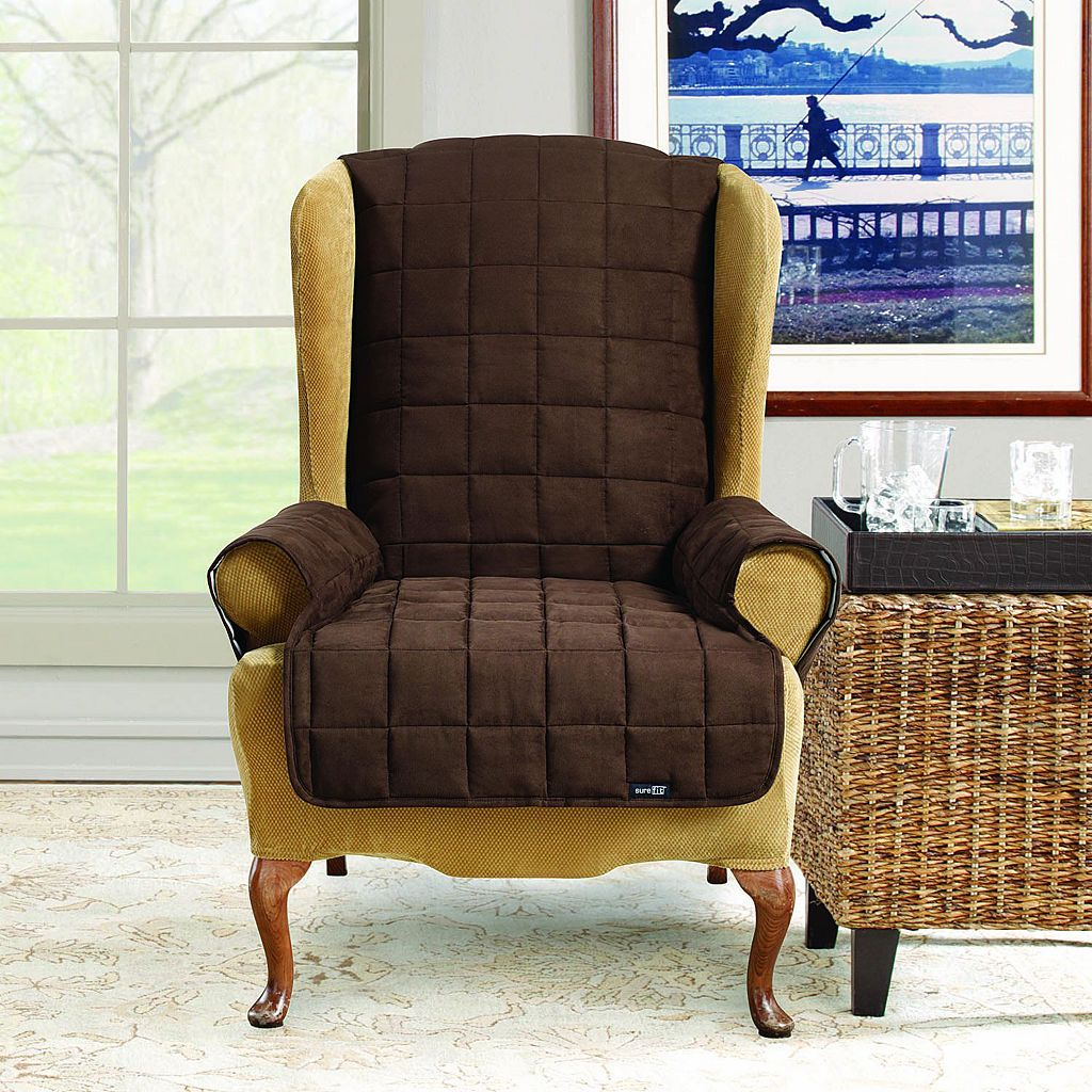 Sure Fit Waterproof Wing Chair/Recliner Slipcover