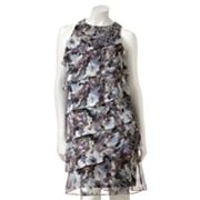 Jessica Howard Floral Chiffon Shift Dress