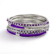 SONOMA life + style Textured Bangle Bracelet Set
