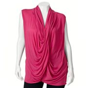 Jennifer Lopez Drapeneck Crossover Top - Women's Plus