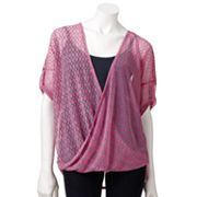 Jennifer Lopez Geometric Crossover Mesh Top