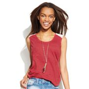 Mudd Lace Hi-Low Tank - Juniors