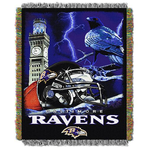 Baltimore Ravens Tapestry Throw by Northwest