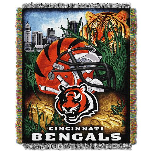 Cincinnati Bengals Tapestry Throw by Northwest